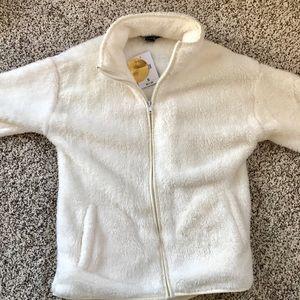 White fluffy jacket